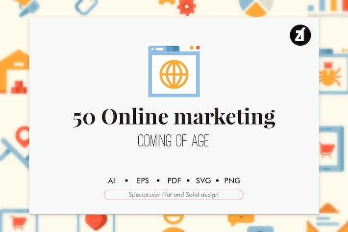 Thumbnail for 50 Маркетинговые элементы в плоской и прочной конструкции