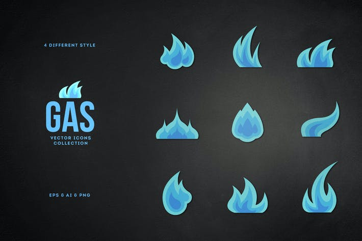 Thumbnail for Gas. Vector Icons.