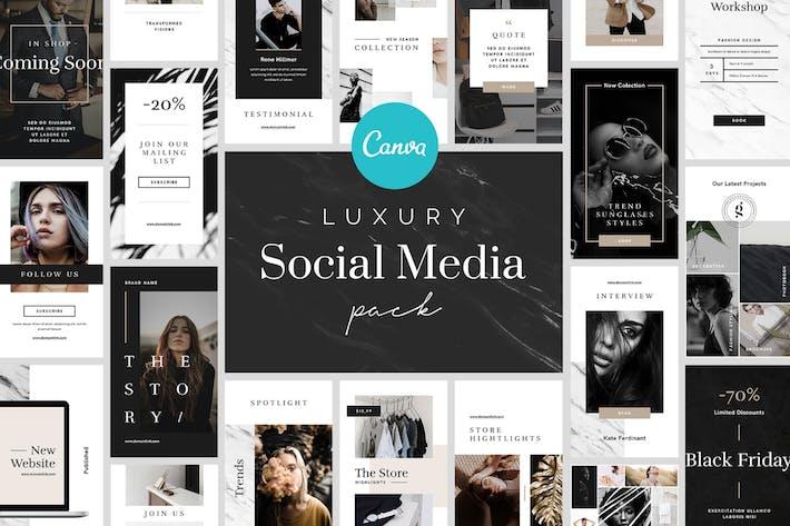 Thumbnail for Luxury Canva Social Media Pack
