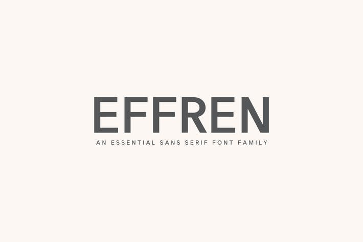 Thumbnail for Effren An Essential Sans Serif Font