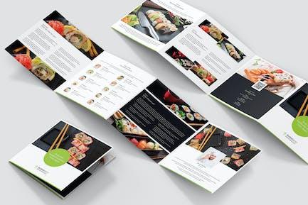 Brochure – Sushi Restaurant 4-Fold Square