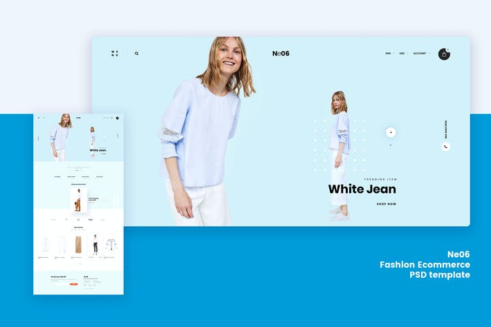 Thumbnail for Ne06 - Fashion Ecommerce PSD template