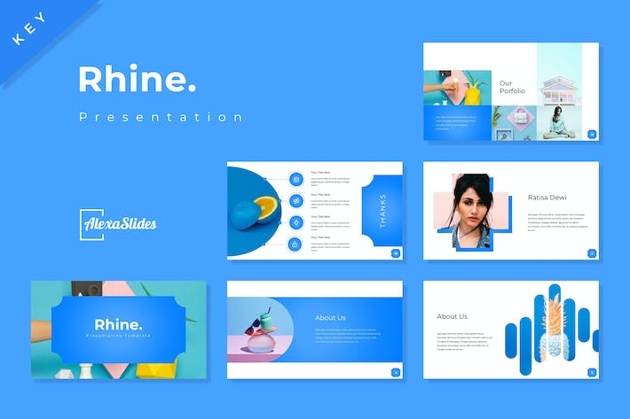 Thumbnail for Rhine - Keynote Presentation Template