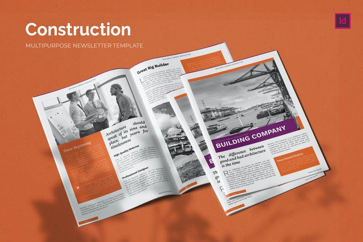 Thumbnail for Construction Company - Newsletter Template
