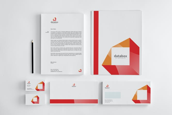 Thumbnail for Databox Stationery Corporate Identity + Logo