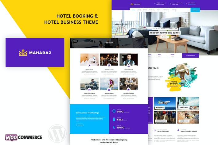 Cover Image For Maharaj Hotel - Hotel Booking WordPress Theme