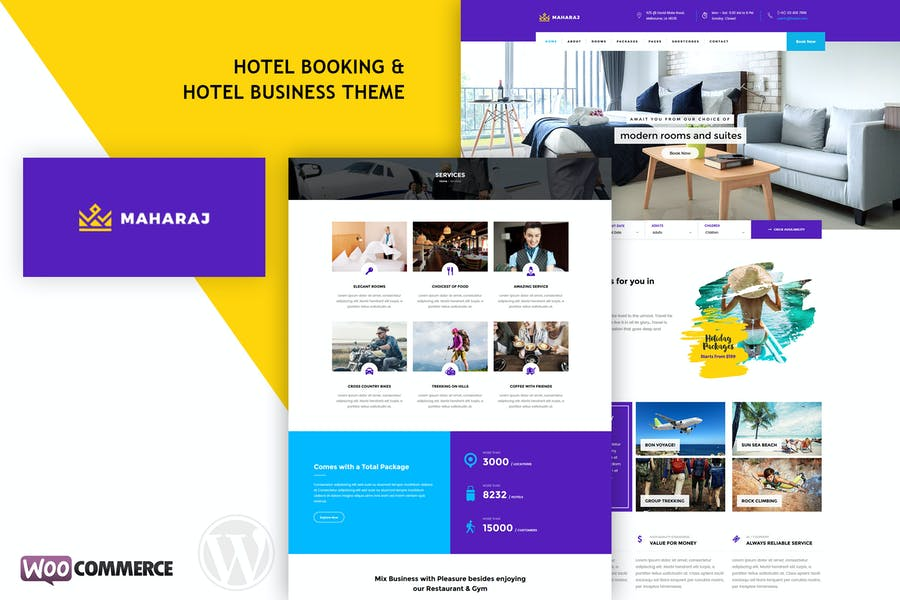 Maharaj Hotel - Hotel Booking WordPress Theme