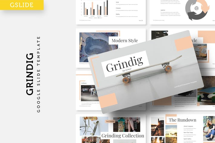 Thumbnail for Grindig - Google Slide Template