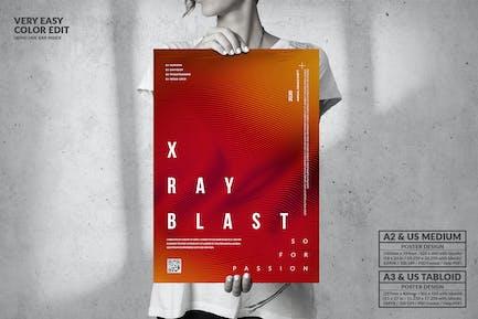 X Ray Blast Music Party - Big Poster Design