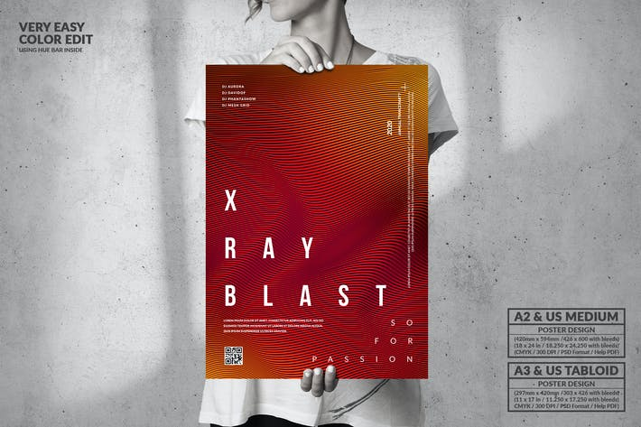 Thumbnail for X Ray Blast Music Party - Big Poster Design
