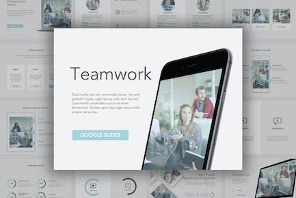 Шаблон слайдов Google для работы в команде