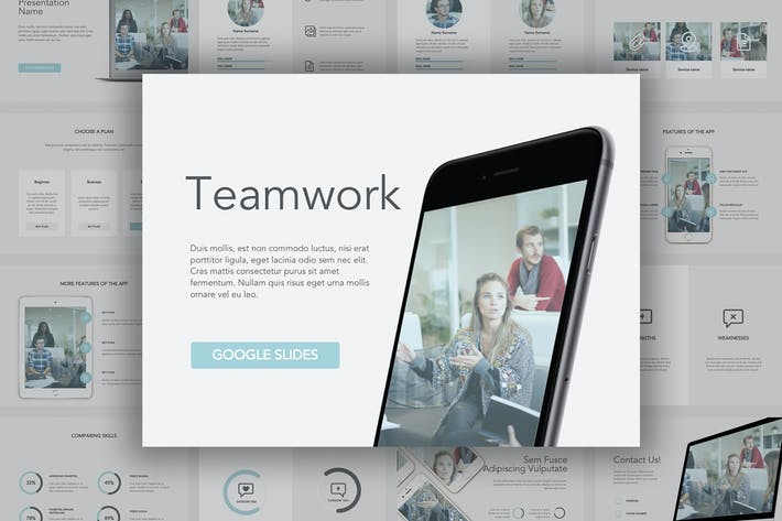 Thumbnail for Teamwork Google Slides Template