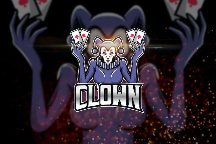 Thumbnail for Clown - AI and PSD Esport Logo Template