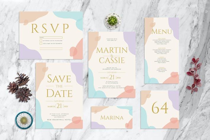 Encre aquarelle - Invitation de mariage
