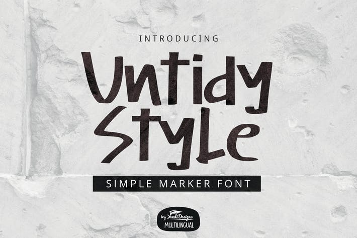 Thumbnail for Untidy Style Font
