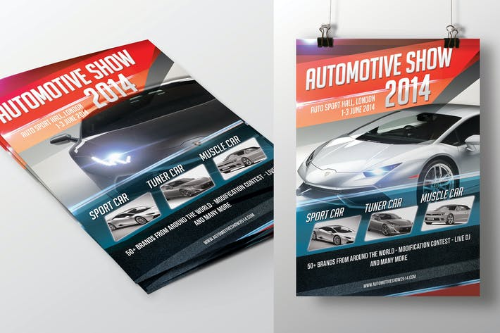 Thumbnail for Automotive Show Flyer
