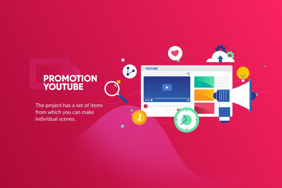 Youtube Promotion Banner & Landing Page