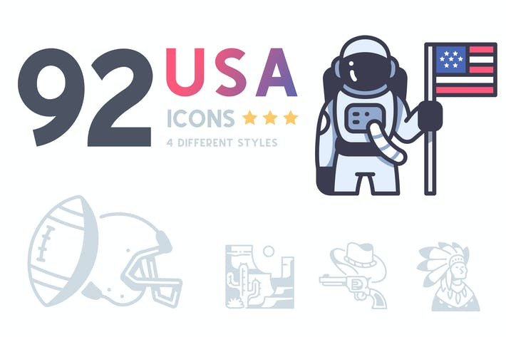 Thumbnail for 92 USA icon set