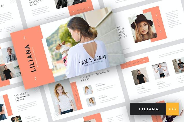 Thumbnail for Liliana - Fashion Google Slide Template