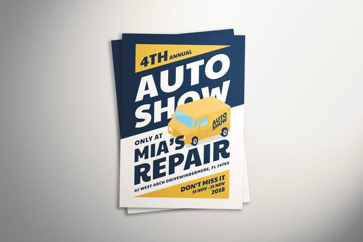 Thumbnail for Auto Show Flyer