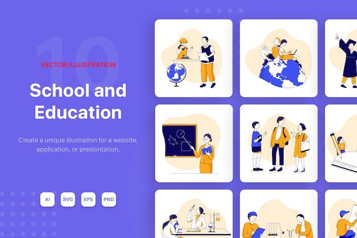 Schul- und Bildungs-Illustrationskit