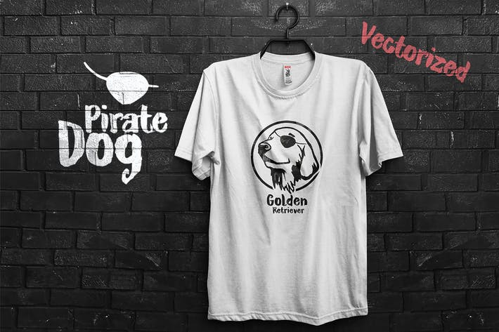 Thumbnail for Pirate Golden Retriever