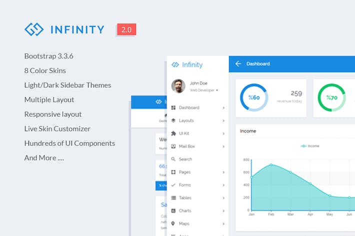 Thumbnail for Infinity - Responsive Web App Kit
