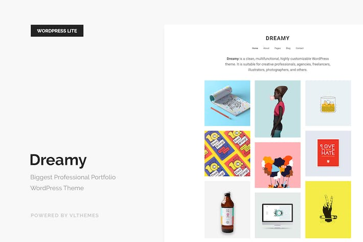 Thumbnail for Dreamy Lite - Responsive Portfolio WordPress Thema