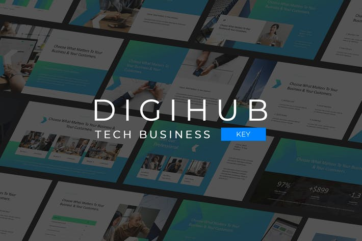 Cover Image For Digihub - Tech Business Keynote Template