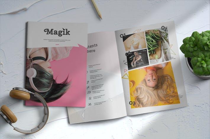 Thumbnail for Magik   Magazine Template