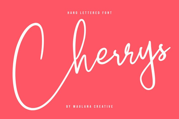 Thumbnail for Cherrys Hand Lettered Script Signature Font