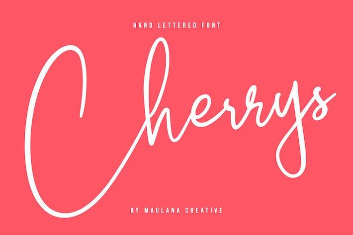 Thumbnail for Fuente de firma de escritura con letras a mano de Cherrys
