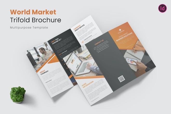 Thumbnail for Wolrd Market Trifold Brochure