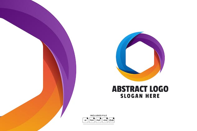 Abstract Gradient Logo Template