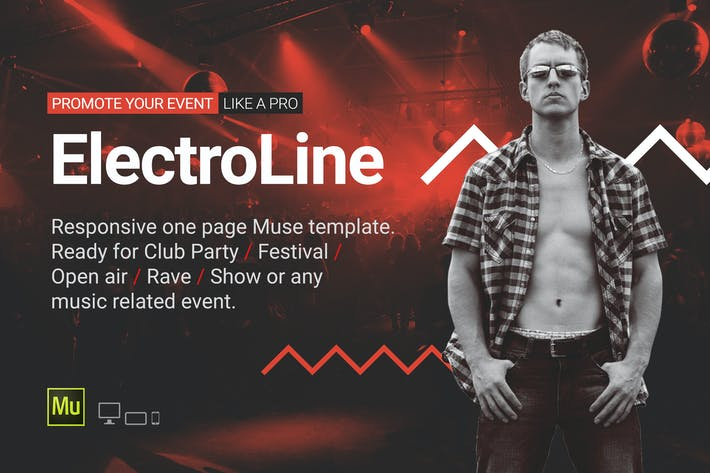 Thumbnail for ElectroLine - Music Event Responsive Muse Template