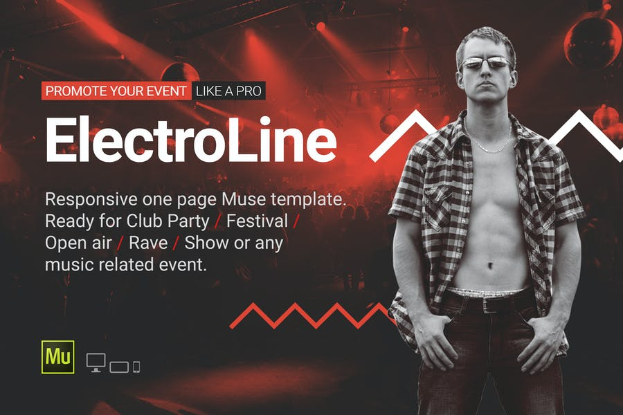 ElectroLine - Music Event Responsive Muse Template