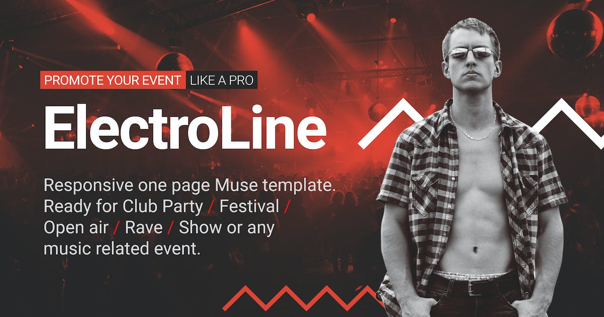 Download ElectroLine - Music Event Responsive Muse Template by vinyljunkie