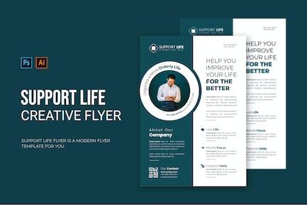 Unterstützen Sie das Leben - Flyer