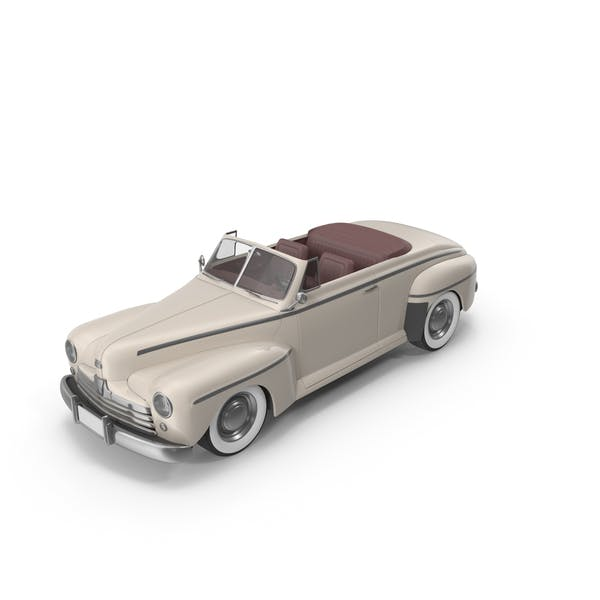 Vintage Convertible Car Cream
