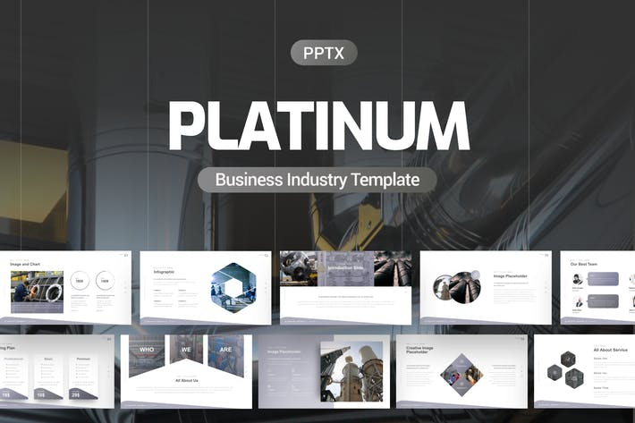 Платиновый шаблон Powerpoint для бизнеса