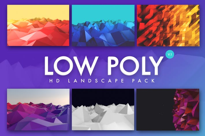 Thumbnail for Low Poly Landscapes Backgrounds