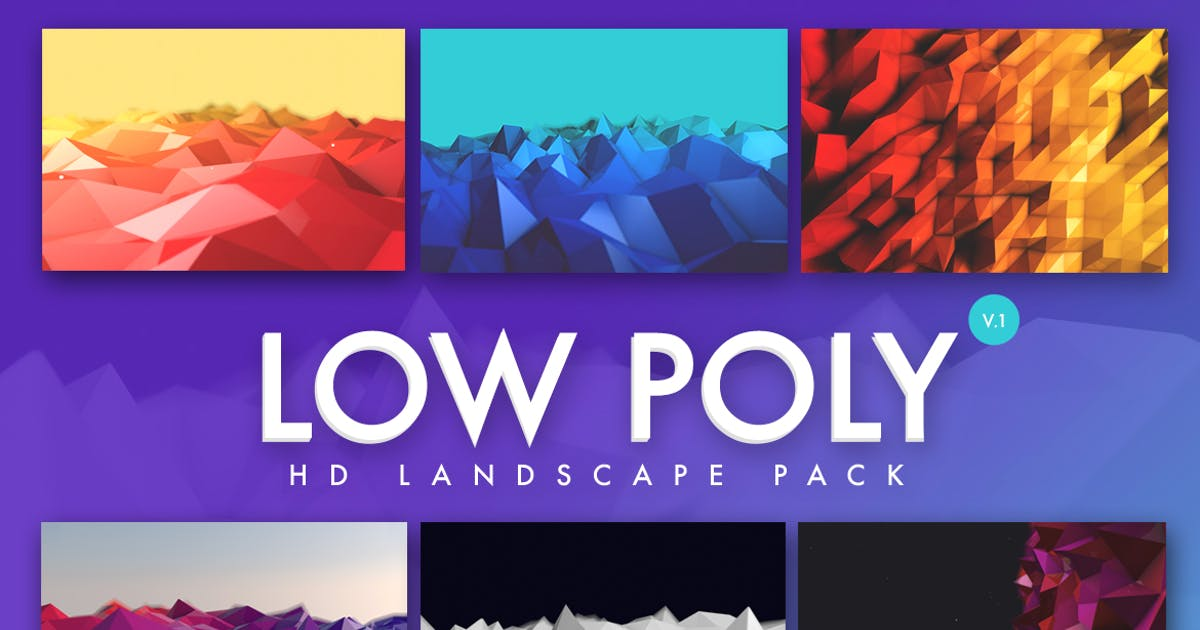 Low Poly Landscapes Backgrounds by micromove