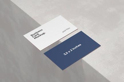 Closeup Business Card Mockup