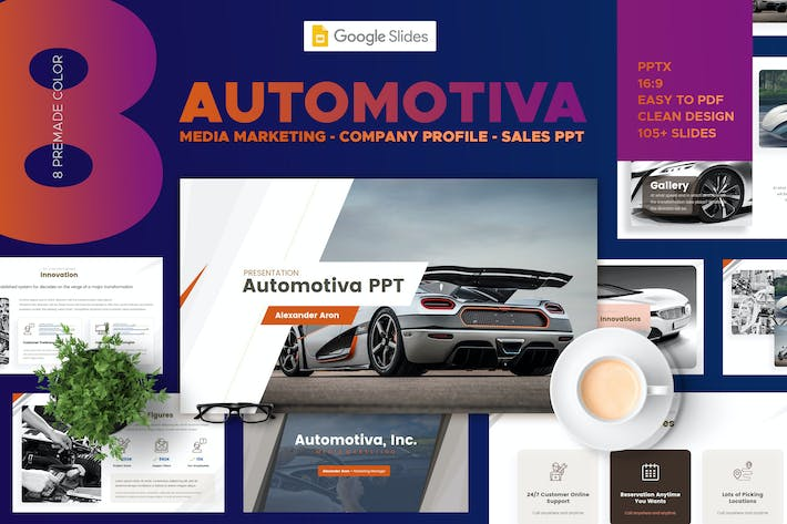 Thumbnail for Automotive Media Marketing - Google Slides