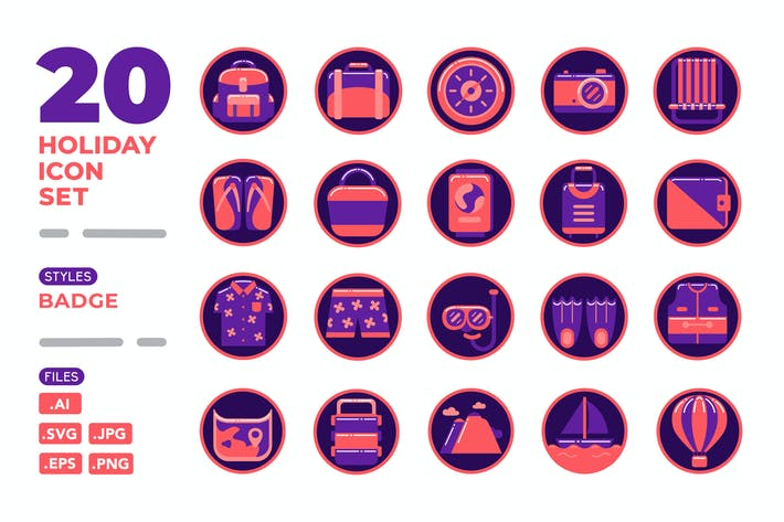 Holiday Icon Set (Badge)