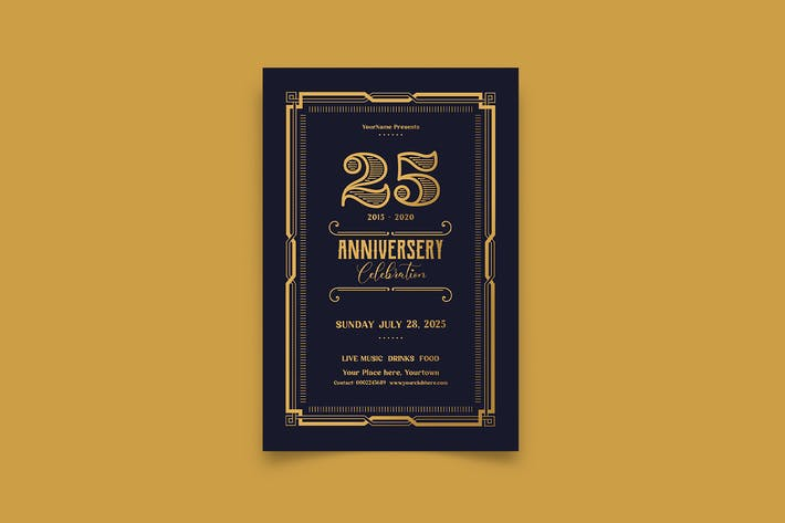 Thumbnail for Gold Anniversary Invitation