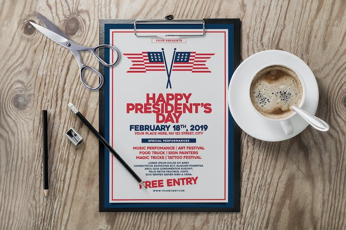 Thumbnail for US President's Day Flyer