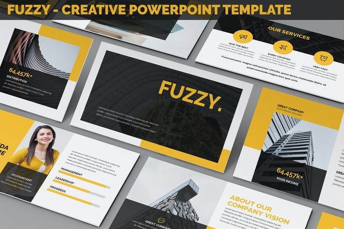 Thumbnail for Fuzzy - Creative Powerpoint Presentation Template