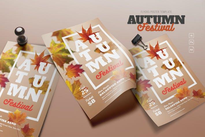 Thumbnail for Autumn Festival Flyers