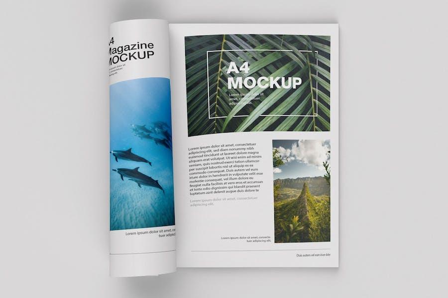 Matte Magazine Mockup. Top View
